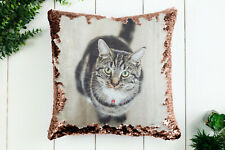 Personalised sequin cushion cover  magic reveal photo pillow case custom print