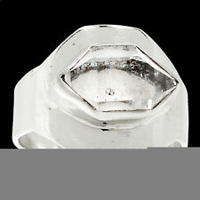 Herkimer Diamond 925 Sterling Silver Ring Jewelry s.9 RR56962