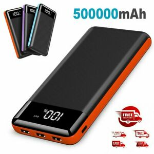 Power Bank 500000mAh Universal 3 USB Type C Input Fast Charge Battery Charger