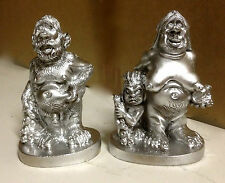Steinzeit Figur Familie  Mann Frau und Kind Skulptur14x9x6cm Deko Standfigur