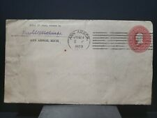 Classic Cover 2c Washington red Stationary 1903 Machine 7-Bar Cancel