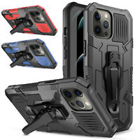 For iPhone 12/Pro/Max/Mini 5G Case With Stand and Belt Clip Hybrid Armor Cover