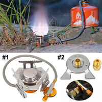 Portable Folding Gas Stove Burner With Storage Bag For Camping Hiking Outdoor SA