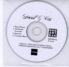 (DV245) David G Cox, Bag of Bones - 2013 DJ CD