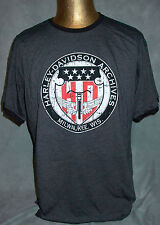 HARLEY-DAVIDSON MOTORCYCLES DISTRESSED MUSEUM ARCHIVES MENS XL GRAY T SHIRT NEW!