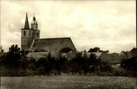 Jüterbog DDR Postkarte 1960 gelaufen Blick auf die St. Nicolai Kirche Wiese