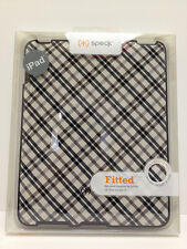 Speck Fitted Hard Shell Snap Cover Case for iPad 1G 1st Gen (Black/White Plaid)