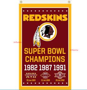 Washington Redskins Football Super Champion Memorable Flag 90x150cm 3x5ft Banner