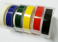 (6 rolls) Embossing Tapes Refill Glossy Colors for Label Maker Korea : 9mm x 2m