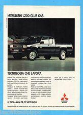 QUATTROR991-PUBBLICITA'/ADVERTISING-1991- MITSUBISHI L200 CLUB CAB