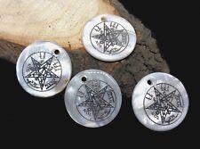 Paquete Colgantes Nácar Natural. Tetragrammaton 18MM x4 PCS. Nuevos.