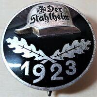 VINTAGE GERMAN 'STAHLHELM' SOLDIER'S WW1 MEMBERSHIP SERVICE BADGE MEDAL 1923