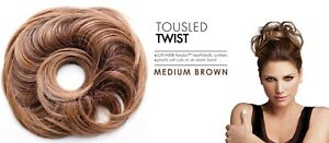 Daisy Fuentes Secret Extensions Tousled Twist Luxhair Hair MED BROWN 506311210B