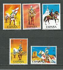 ESPAÑA 1973 EDIFIL 2139/2143** UNIFORMES MILITARES