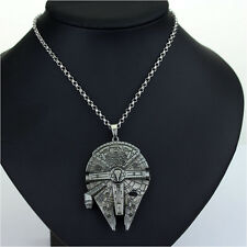 Star Wars Necklace Millennium Falcon Ship han solo x wing STAINLESS STEEL METAL