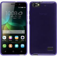 Silicone Case for Huawei Honor 4c transparent purple + protective foils