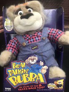 Vintage TYCO Real Talkin' Bubba Plush Talking Bear New in Box 1997 Works! #1787