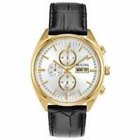 Bulova Surveyor Men's Quartz Chronograph Gold Tone Calendar 42mm Watch 97C108