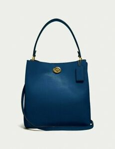 Coach Charlie Bucket Bag - B4/Deep Blue