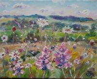Daisies & Orchids, Old Glebe Field, Wensleydale, IMPRESSIONISM, Yorkshire Dales.