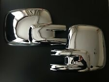 CHROME WING MIRROR COVERS FITS VW TRANSPORTER T4 CARAVELLE MULTIVAN 1990-2003