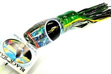 Black Bart BREAKFAST Big Game Trolling Lure - Teaser - PAUA / GREEN BLACK DOT
