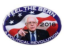 "2016 BERNIE SANDERS ""A POLITICAL REVOLUTION"" OVAL CAMPAIGN BUTTON, bso"