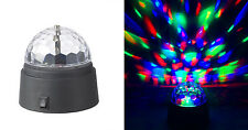 Battery-Operated Rotating Crystal Ball LED Light Dome Disco DJ Lighting 3.5""