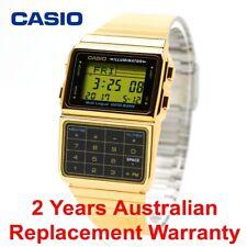CASIO DATABANK VINTAGE DIGITAL WATCH DBC611G-1 GOLD DBC-611G-1DF 2Y WARRANTY