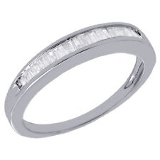 Real Diamond Baguette Wedding Band Ring in 925 Sterling Silver 0.25 Ct. (3.25mm)