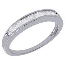 Vrai Diamant Baguette Anneau Mariage Bague en Argent Sterling 925 0.25 Ct.