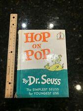 """Hop on Pop Dr. Seuss beginner hardcover book 18 6.75""""x 9.25"""""""