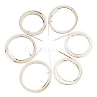 6 Pcs Ivory ABS Guitar Binding Measures 6mm x 1.5mm Thick Guitar Parts