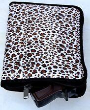 Soft Padded Handgun Gun Pistol Case / Range Bag Insert New Leopard Print