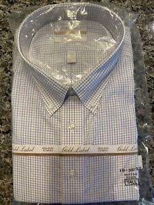 GOLD LABEL ROUNDTREE & YORKE NON-IRON MEN'S 19 36-37 DRESS SHIRT