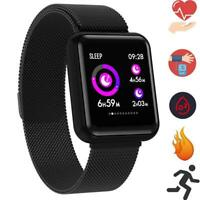 Bluetooth OLED Smart Watch Magnetverschluss Pulsuhr Armband Fitness Android IOS