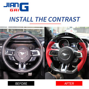 LED performance Carbon Fiber  Steering Wheel Fit in 2018+Mustang Shelby GT