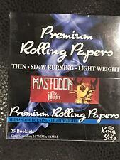 Mastodon Rolling Papers 25 Count Pantera High Fire Metallica Shirt Sleep Tool