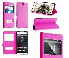 Housse Etui Coque Pochette Protection Rose pour Sony Xperia XZ