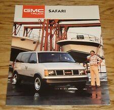 Original 1987 GMC Safari Sales Brochure 87 SL SLX SLE
