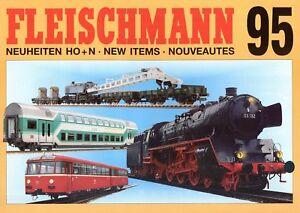 Fleischmann Neuheiten Prospekt 1995 D GB F brochure model railways Modellbahn