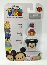 Disney TSUM TSUM STACK EM 3 Pack FRED JESSIE MICKEY Figures Series 3