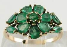 9 Carat Yellow Gold Emerald Ring Art Deco Fine Jewellery