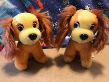 Lady and the Tramp Vintage Disney Plush Stuffed Animals TOYS Dogs Vintage MEDIUM