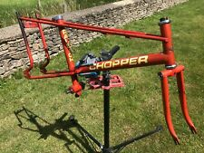 Raleigh Chopper Mk2 Infa red frame and front forks, original