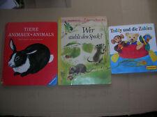 3x antiquarisches Kinderbuch Tiere 2000 Teddy 1961 Wer stielt den Speck 1.AL1964