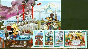 Gambia 1985 Disney Mark Twain set of 5 SG590-MS594 V.F MNH