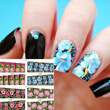 1Sheet Nail Art Water Decals Transfer Stickers Flower Floral Design Manicure