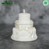 3D Cake Silicone Candle Mold Soap Molds DIY Clay Chocolate Candy for Wedding