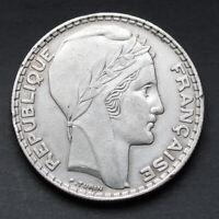 Pièce Argent France 20 Francs Turin Années Variées 1929-1939